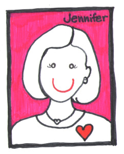 Illustration of Jennifer Miller